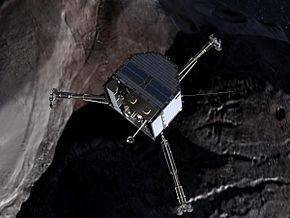 290px-Philae_over_a_comet_(crop)