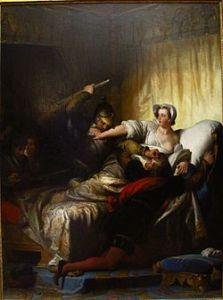250px-Alexandre-Évariste_Fragonard_-_Scène_du_massacre_de_la_Saint-Barthélémy_(1836)