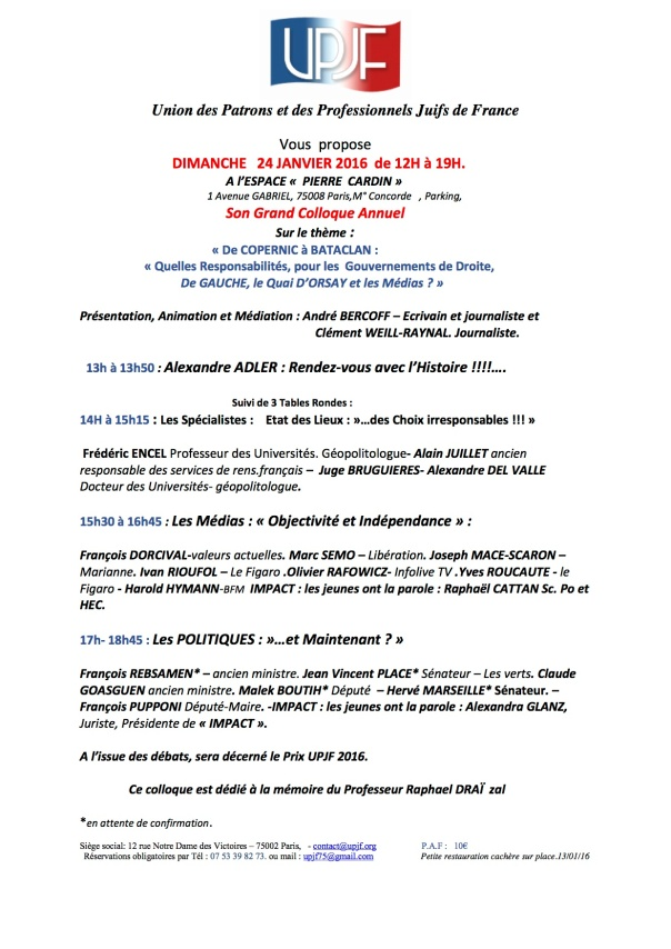 UPJF colloque 2016 programme Word 13 01 16 def